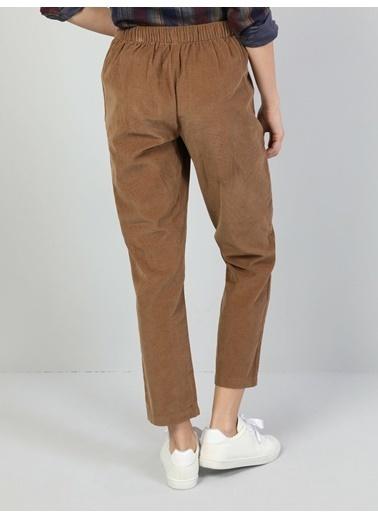 Colin's Regular Fit Orta Bel Düz Paça Kadın Kahverengi Pantolon Kahve